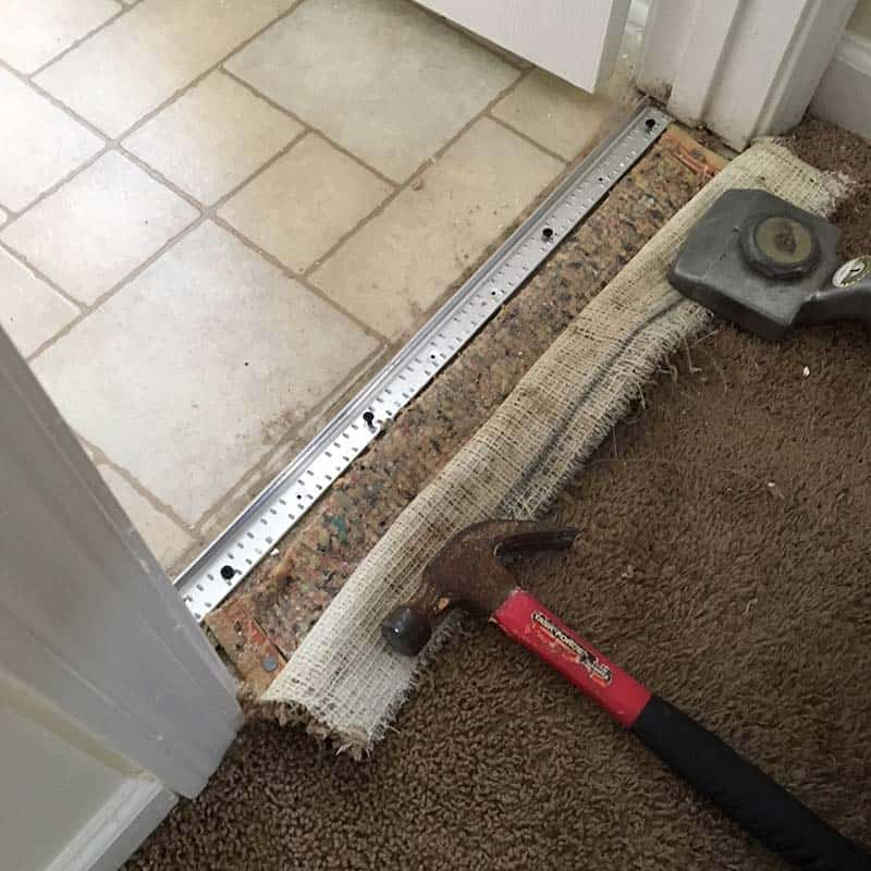 Repairing torn carpet in Greenville, SC