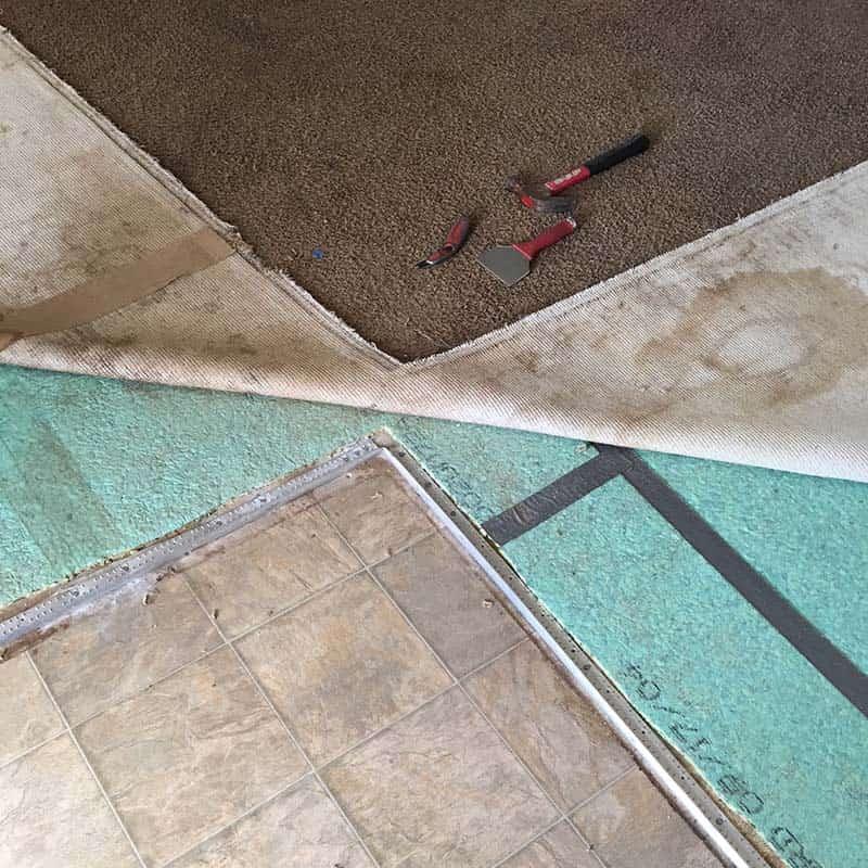 Carpet Repair in Greenville, SC Threshold repair in entryway