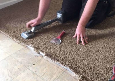 Carpet Repair for Thresholds in Greenville, SC badly damaged entryway